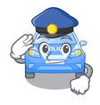 police police car on a cartoon roadside vector image