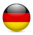 Round glossy icon of germany vector image