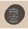 round save the date card vector image vector image