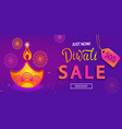 sale banner for happy diwali festival of lights vector image
