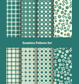 seamless patterns set in oriental style vector image vector image