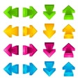 set arrow stickers colored vector image
