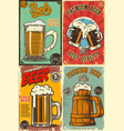 set beer pub posters design element for poster vector image