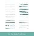set of grunge brushes vector image