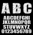 shaded font alphabet font type letters vector image