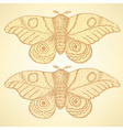 Sketch moth incect in vintage style vector image vector image
