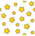 stars seamless pattern on white background vector image vector image