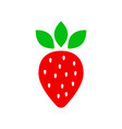strawberry fruit sign icon ripe berry business vector image vector image