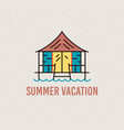 summer vacation concept design isolated vector image
