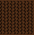 texture brown leather weaving seamless pattern vector image vector image