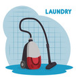 vacuum cleaner laundry service vector image