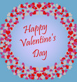 valentine39s day floral hearts background design vector image vector image