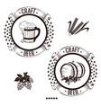 vintage beer label vector image vector image