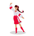 woman in ukrainian national clothes dance vector image vector image