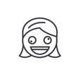 zany face emoji concept line editable vector image