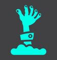 zombie hand glyph icon halloween and scary vector image vector image