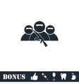 Bandit group icon flat vector image