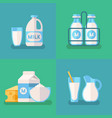 fresh organic milk concept background with vector image