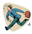 Businessman runn late business people concept vector image