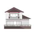 2 store building vector image