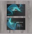 abstract creative business cards on dark vector image vector image