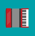Accordion icon flat vector image