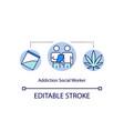 addiction social worker concept icon vector image vector image