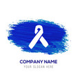 aids awareness ribbon sign or icon - blue vector image vector image