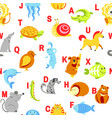 alphabet animals and letters study for children vector image