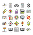 api integrations icons vector image vector image