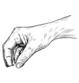 artistic or drawing hand holding something vector image