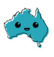 australia country map icon vector image