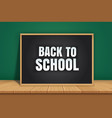back to school banner with black chalkboard on vector image vector image