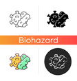 bacteria and viruses icon vector image vector image