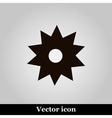 Black flower icon on grey background illus vector image vector image