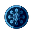 blue dream catcher free spirit decoration ethnic vector image