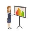 businesswoman giving presentation vector image vector image