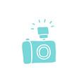 camera doodle icon vector image vector image