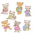 cartoon kittens vector image vector image