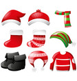 clothes for christmas holiday vector image
