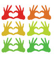 collorfull hand icon vector image