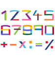 colorful number set vector image