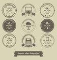 Computer Shop Vintage Label vector image vector image