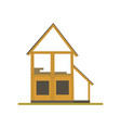 construction of wooden house process eco building vector image vector image