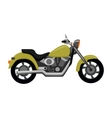 Cool Motorcycle Isolated on White Background vector image