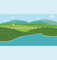 countryside nature landscape with farm vector image vector image