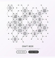 craft beer concept in honeycombs vector image vector image