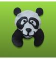 Cute Panda Head in Green Background vector image