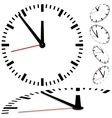Dial Clock vector image