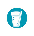 drinks fresh cold plastic cup with straw blue vector image vector image